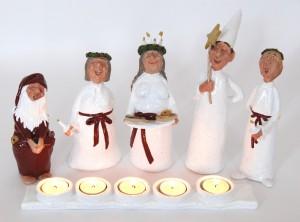 Luciatåg med 5 värmeljus