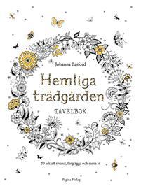 Målarbok/tavlor Hemliga Trädgården