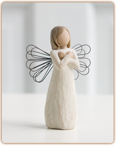 "Figurine Willow Tree ""Sign for love"""