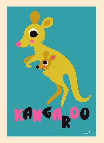 "Poster Ingela Arrhenius ""Kangaroo"" 50x70 cm"