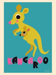 "Poster Ingela P Arrhenius ""Kangaroo"" 50x70 cm"