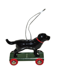 Pendant in tin Dog, black