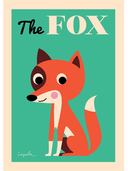 "Poster Ingela Arrhenius ""The Fox"" 50x70 cm"