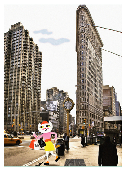 "Miniprints/vykort Ingela P Arrhenius ""New York"" 7st"