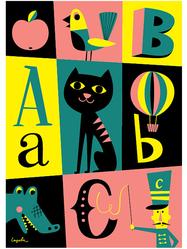 """Affisch Ingela Arrhenius """"ABC"""" 50x70 cm"""