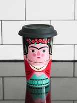 Travel mug with lid Ingela P Arrhenius, Frida Kahlo
