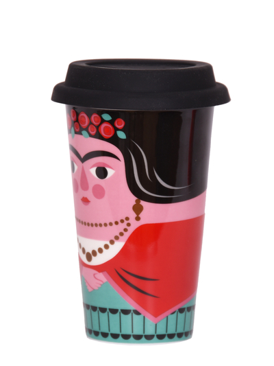 Travel mug with lid Ingela P Arrhenius, Frida Kahlo