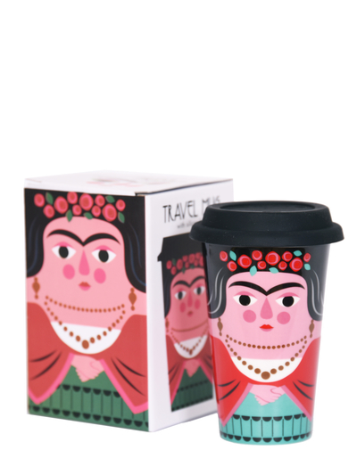 Porslinsmugg med lock Ingela P Arrhenius, Frida Kahlo