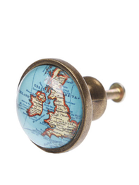 Drawer Knob Vintage Map