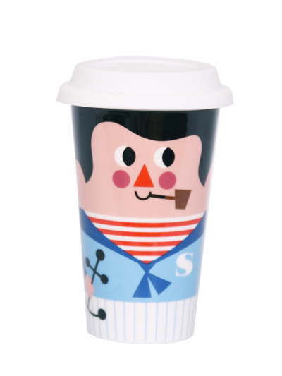 Travel mug with lid Ingela P Arrhenius, Sailor