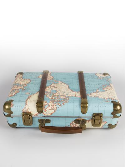 """Resväska liten vintage """"Around The World"""""""