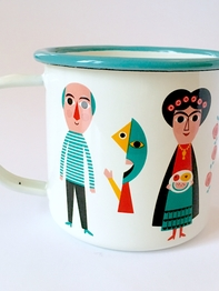 Mug Enamel Ingela P Arrhenius, Artists