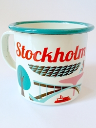 Mug Enamel Ingela P Arrhenius, Architecture of Stockhom