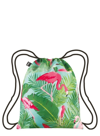 Ryggsäck, Loqi WILD Flamingos Backpack
