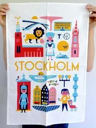 """Tea towel """"Stockholm"""" - Ingela P. Arrhenius"""