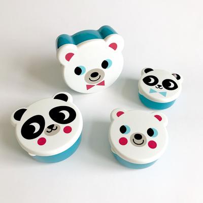 Snackbox set, Panda and Polar Bear