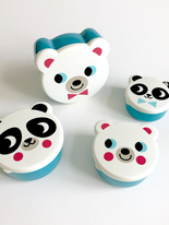Snackbox set, Panda and Polar Bear