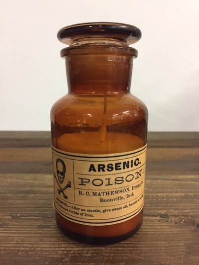 """Scented Candle in Apothecary Bottle """"Poison"""""""