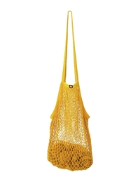 String bag, mustard