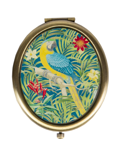 "Compact mirror ""Parrot"" blue"