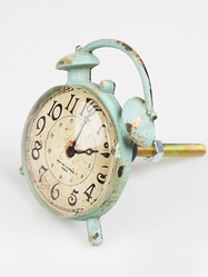 Drawer Knob Clock, turq.