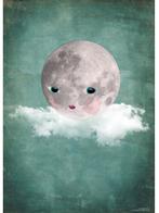 "Affisch Omm Design ""Mooncloud"" 30x40 cm"