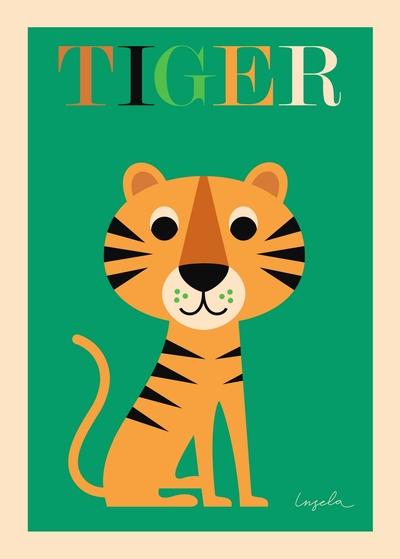 """Affisch Ingela P Arrhenius """"Tiger"""" 50x70 cm"""