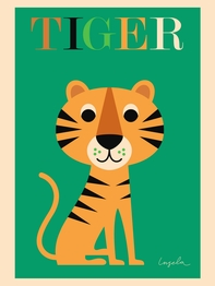 """Poster Ingela P Arrhenius """"Tiger"""" 50x70 cm"""