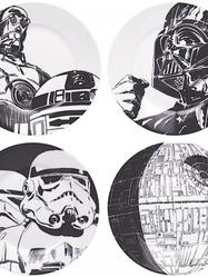 Fyra Starwarstallrikar