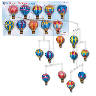 Mobile Hot Air Balloons in tin