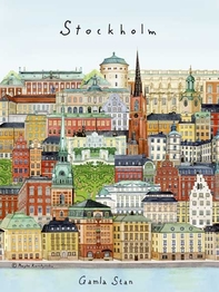 "Mini-affisch/kort ""Stockholm/Gamla stan"" 15x21 cm"