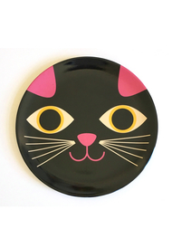 "Plate Ingela P Arrhenius ""Cat Face"""