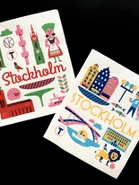"Dishcloths, set of 2, ""Stockholm"" Ingela P Arrhenius"