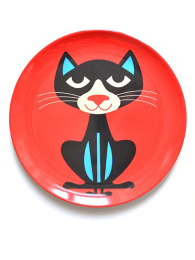 """Plate Ingela P Arrhenius """"Svart katt"""""""