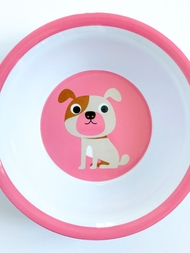 "Bowl Ingela P Arrhenius ""Dog on pink"""