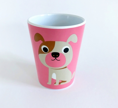 "Mug Ingela P Arrhenius ""Dog on pink"""