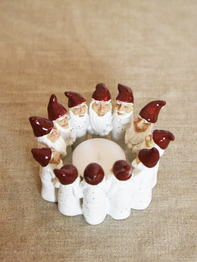 Candle holder Elf Ring of 6,5 cm, white