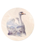 Print on plywood Faunascapes - Swan
