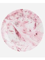 "Papperstallrik ""Marble"", rosa 12st"