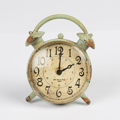 Drawer Knob Clock, green
