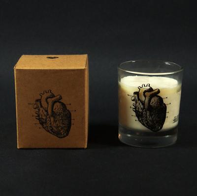 Doftljus Anatomiskt hjärta, rosmarin & mynta