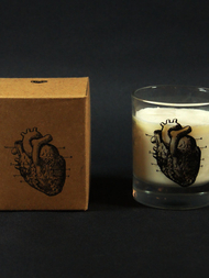 Candle Anatomic Heart, Rosemary & Mint