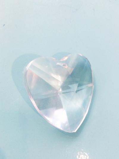 """Prism pendant """"Heart"""" 4 cm"""