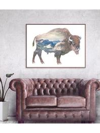 Affisch 100x70 Faunascapes - Buffalo