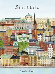 "A4 poster ""Stockholm/Gamla stan"""