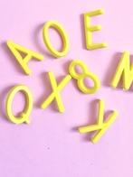 Bokstäver till bokstavstavla - Gula