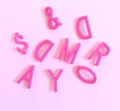 Letters for letterboard - Pink
