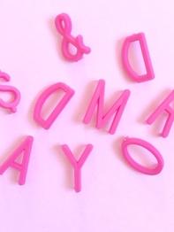 Bokstäver till bokstavstavla - Rosa