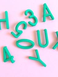 Bokstäver till bokstavstavla - Grön