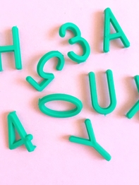 Letters for letterboard - Green